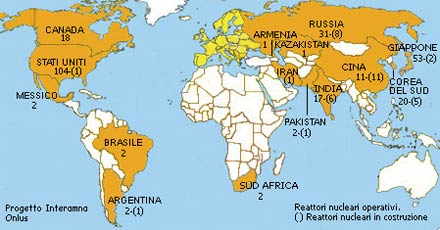 Cartina Centrali Nucleari Nel Mondo.Blank